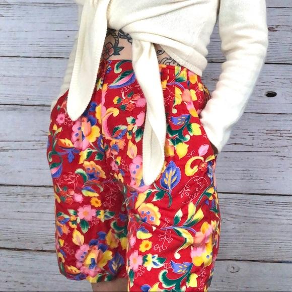Cambridge Dry Goods Vintage Floral Trouser Shorts
